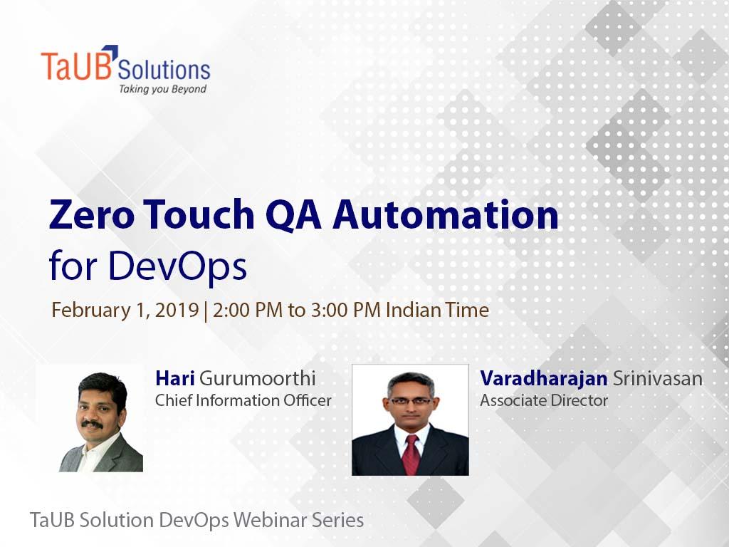 Webinar Zero Touch QA Automation for DevOps